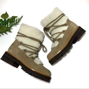 Marc Fisher LTD Isha Shearling Hiking Boot